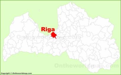 Riga Location Map