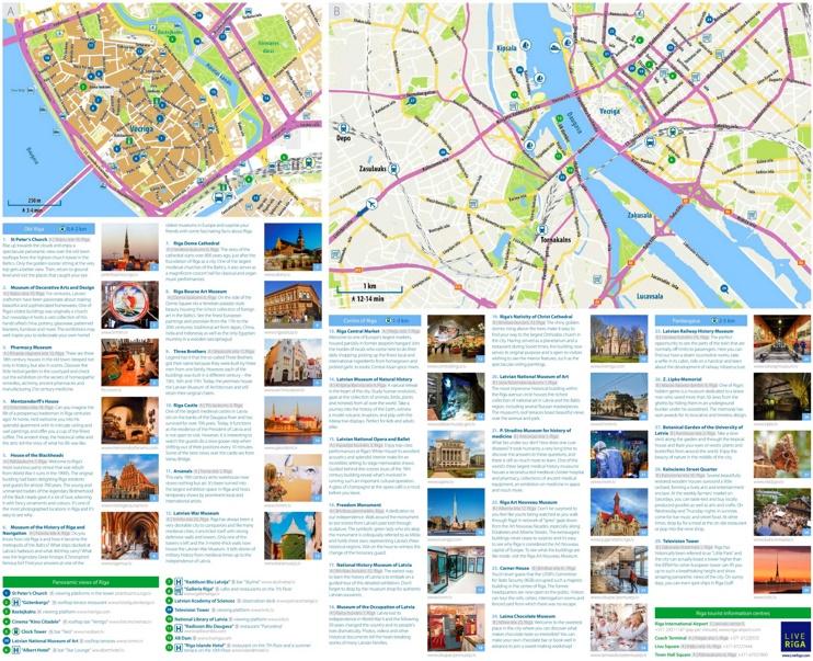 Riga tourist map