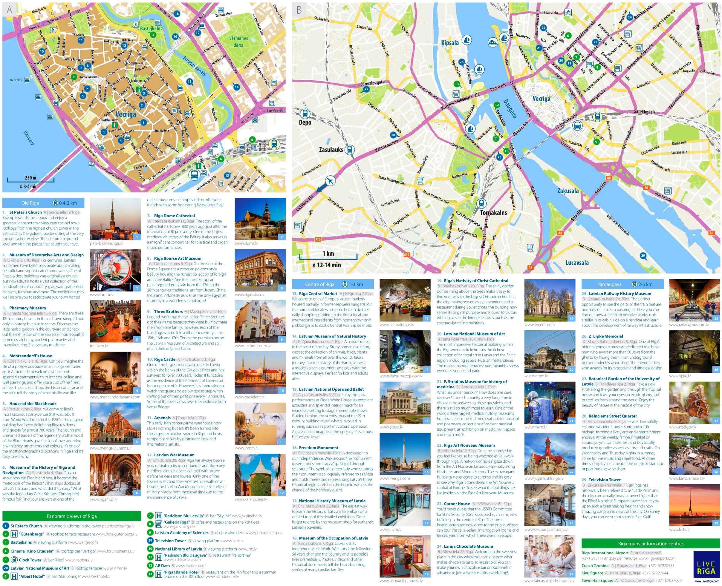 Riga tourist map