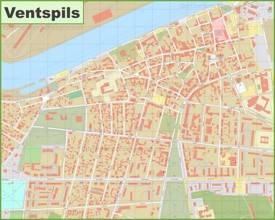 Ventspils city center map