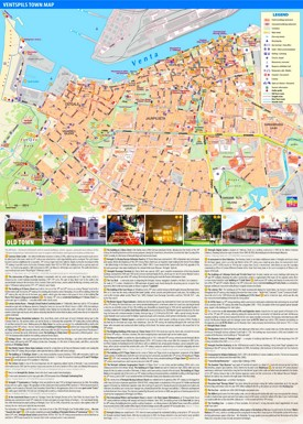 Ventspils hotels and sightseeings map
