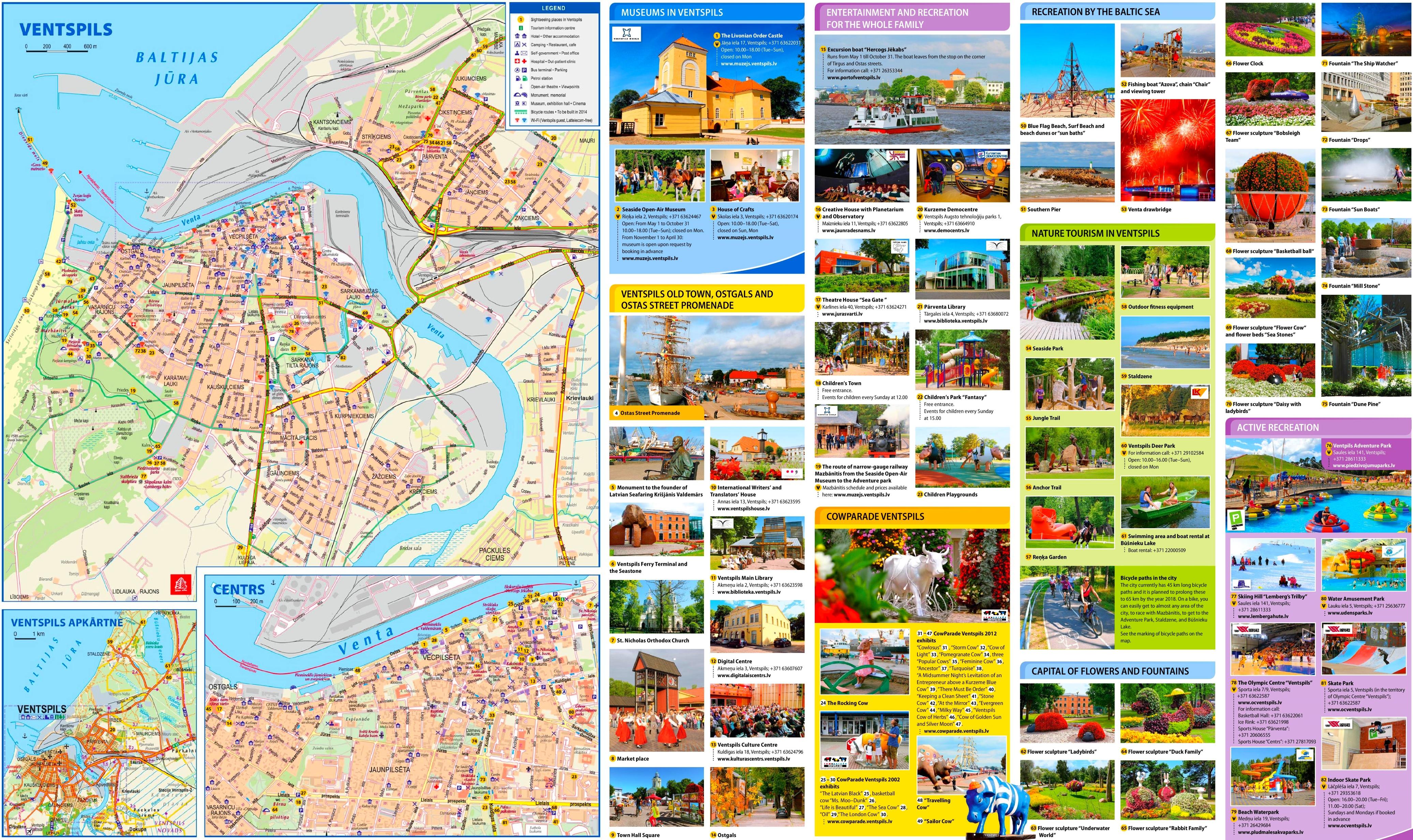 Ventspils tourist map