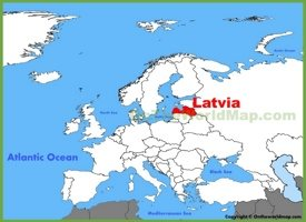 Latvia location on the Europe map