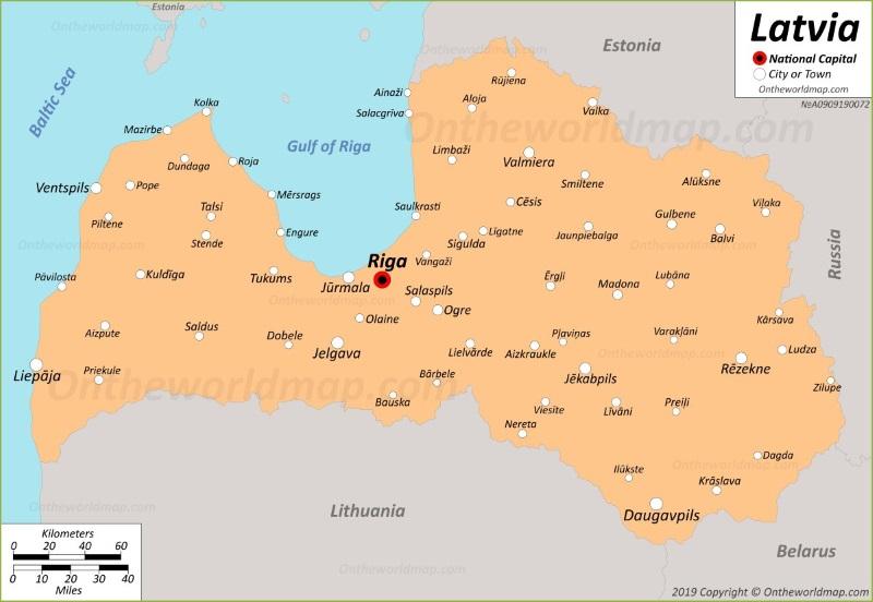 Latvia Maps | Maps of Latvia