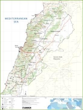 Large detailed map of Lebanon