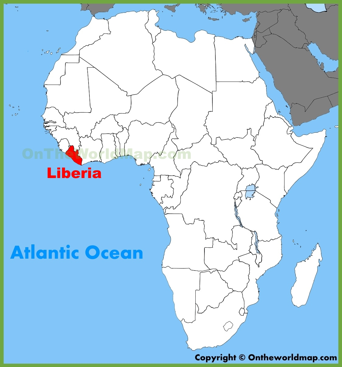 Liberia location on the Africa map