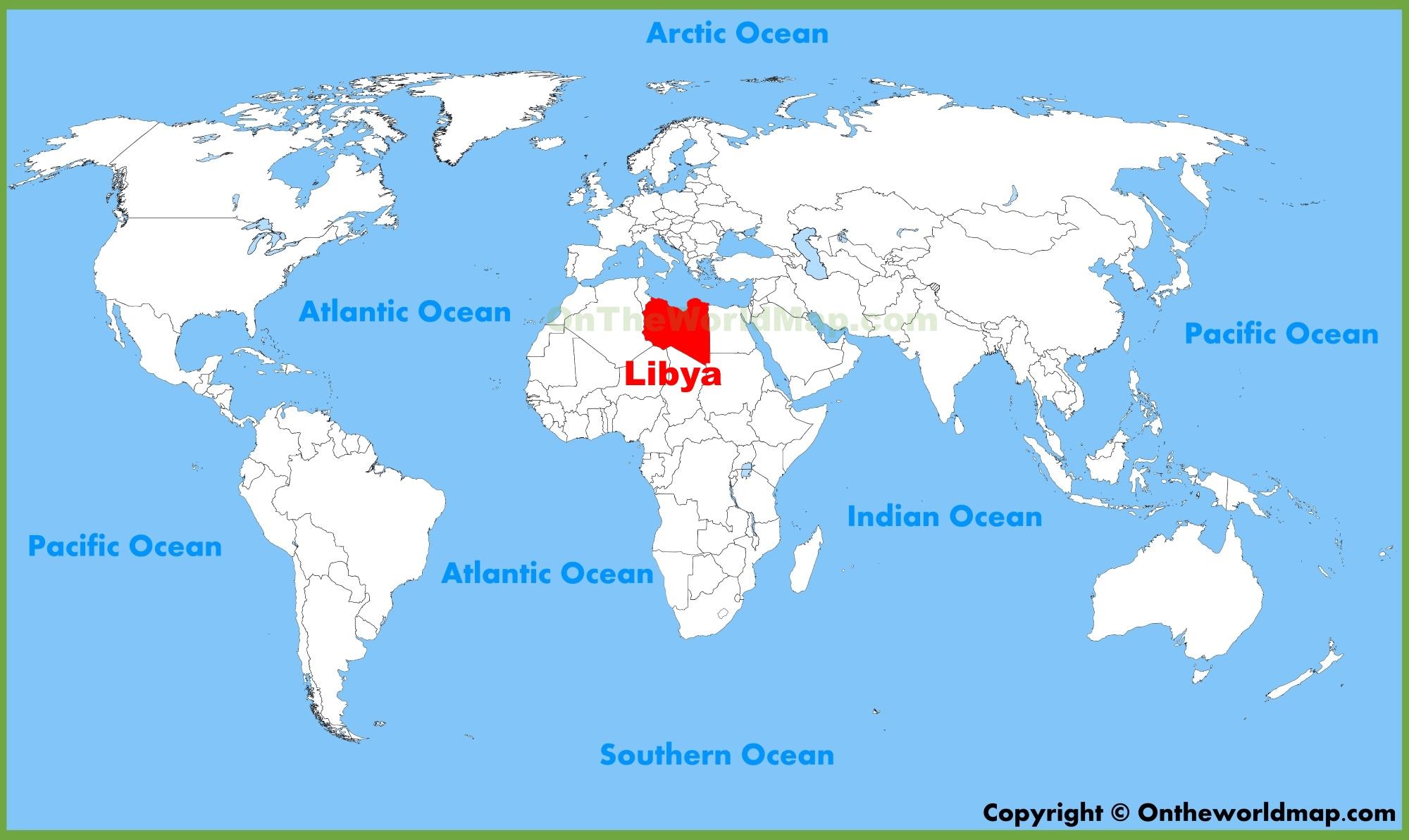 Libya location on the World Map