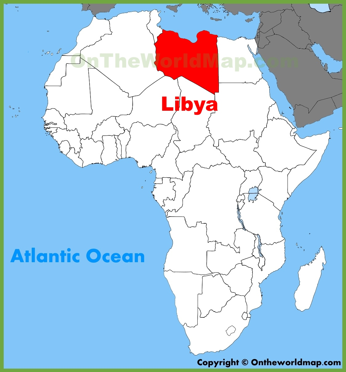 Libya location on the Africa map
