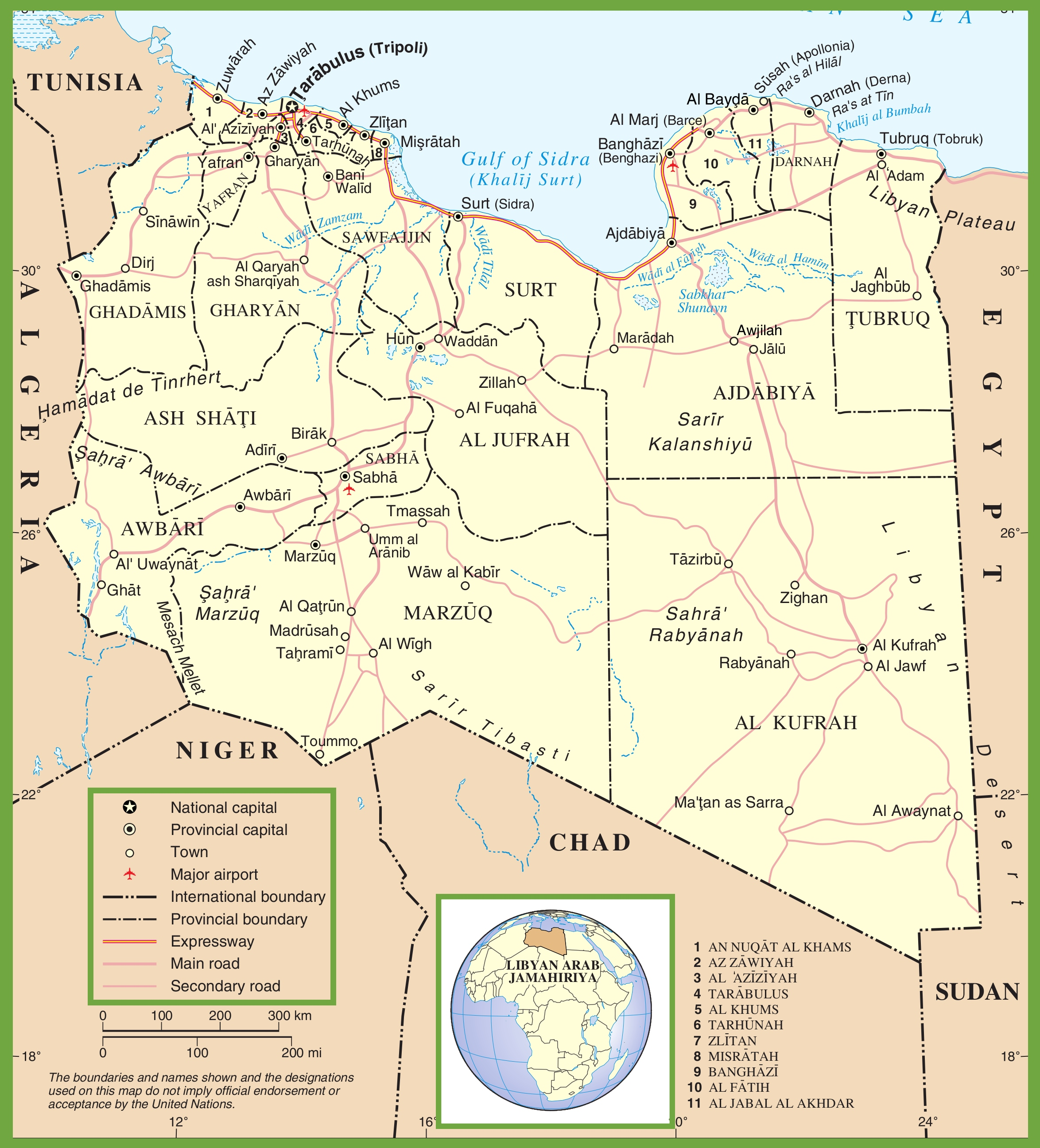 Libya political map libya political map gumiabroncs Image collections