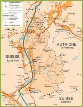 Large detailed map of Liechtenstein
