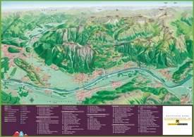 Liechtenstein tourist map