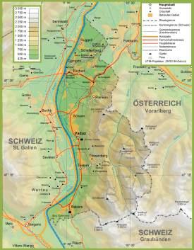 Topographic map of Liechtenstein