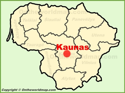 Kaunas Location Map