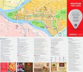 Kaunas tourist map
