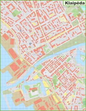 Klaipėda city center map