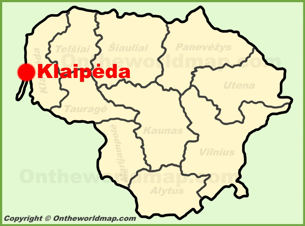 Klaipda location on the Lithuania Map