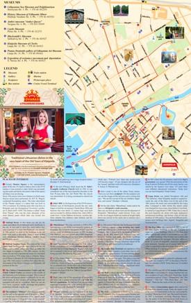 Klaipėda sightseeing map