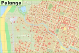 Palanga city center map