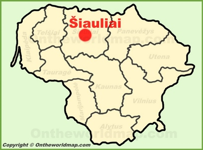 Šiauliai Location Map