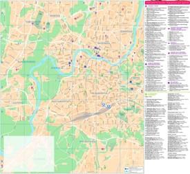 Vilnius area tourist map