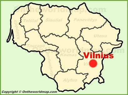 Vilnius Location Map