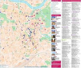 Vilnius tourist map