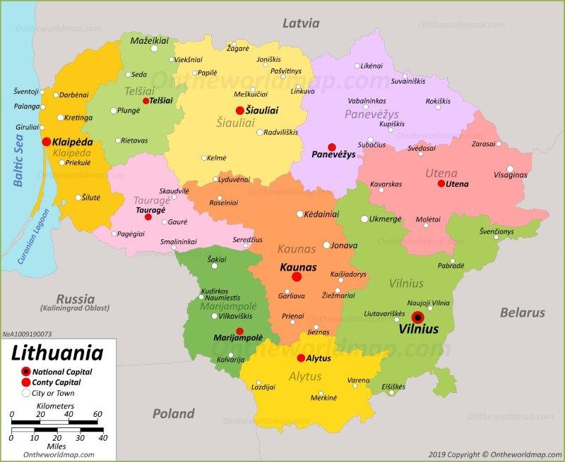 Lithuania Maps | Maps of Lithuania