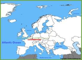 Luxembourg location on the Europe map