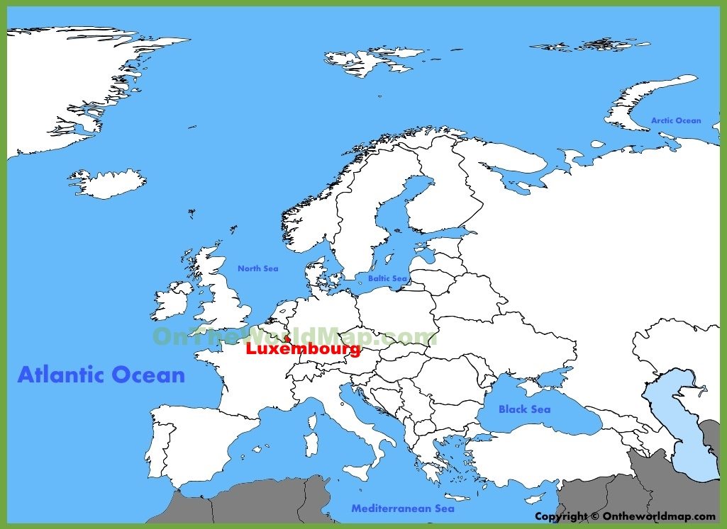 Map Of Europe Luxemburg.Luxembourg Location On The Europe Map