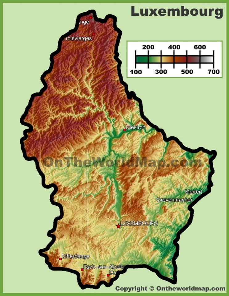a geography of luxembourg