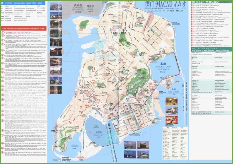 Macau city bus map