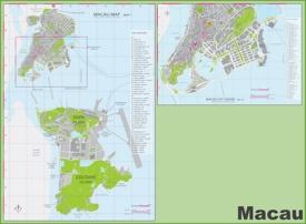 Macau hotel and casino map