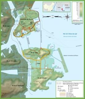 Macau topographic map