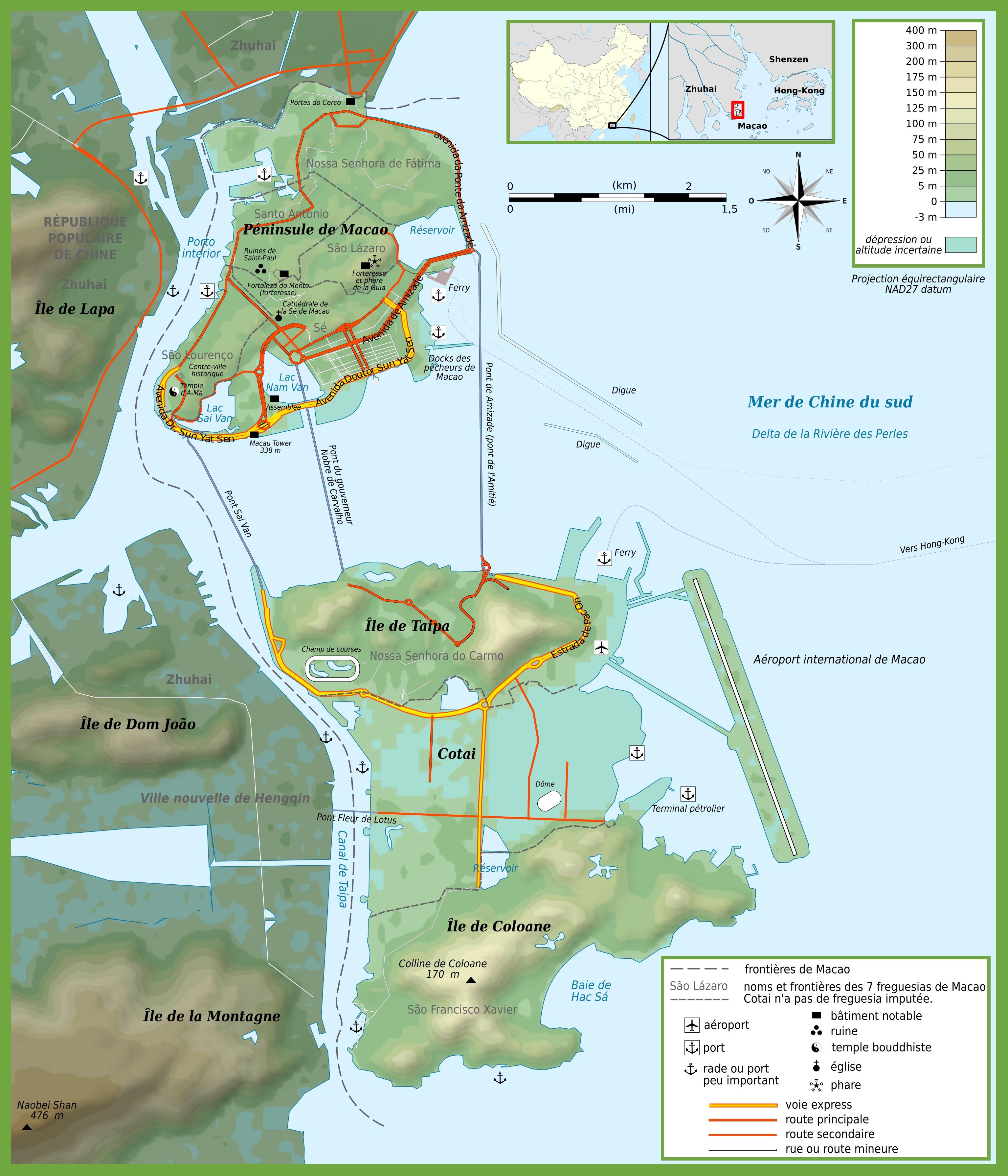macau maps maps of macau