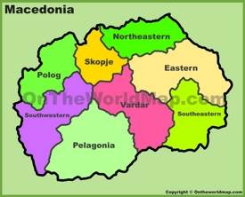 Administrative map of Macedonia