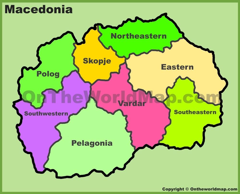 Administrative Map Of Macedonia