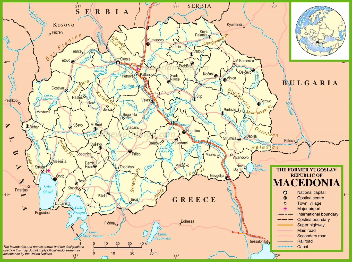 Macedonia maps maps of macedonia macedonia political map gumiabroncs Images