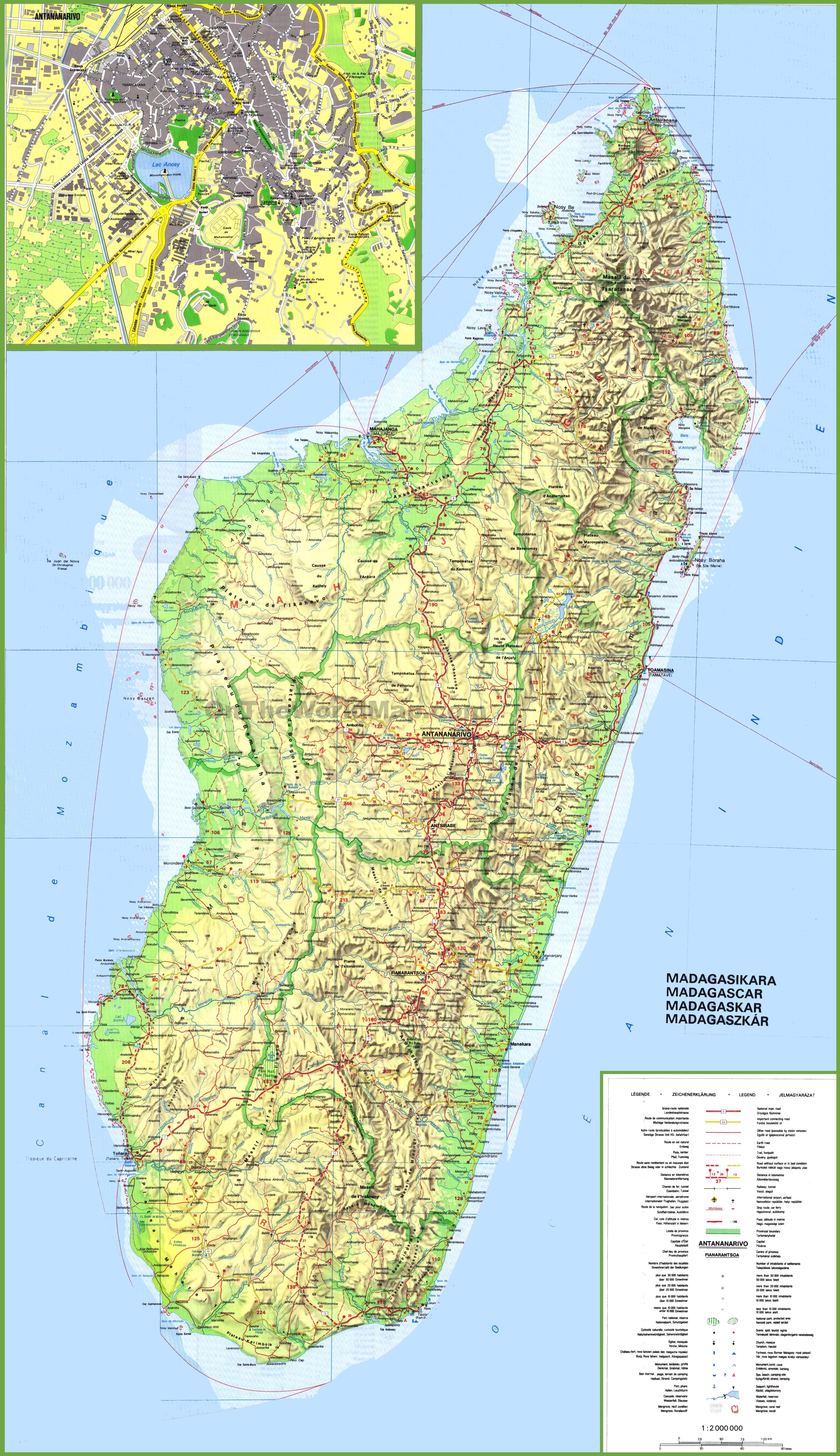 Madagascar Maps Maps of Madagascar