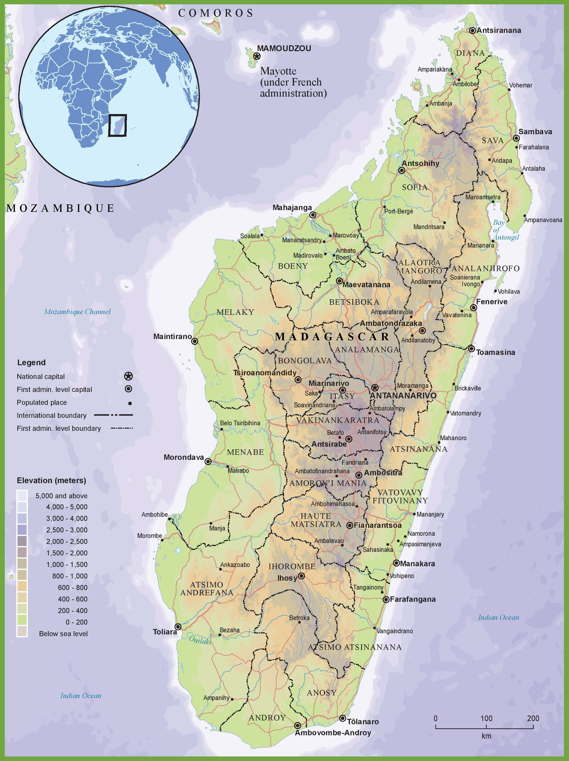 Madagascar physical map sciox Images