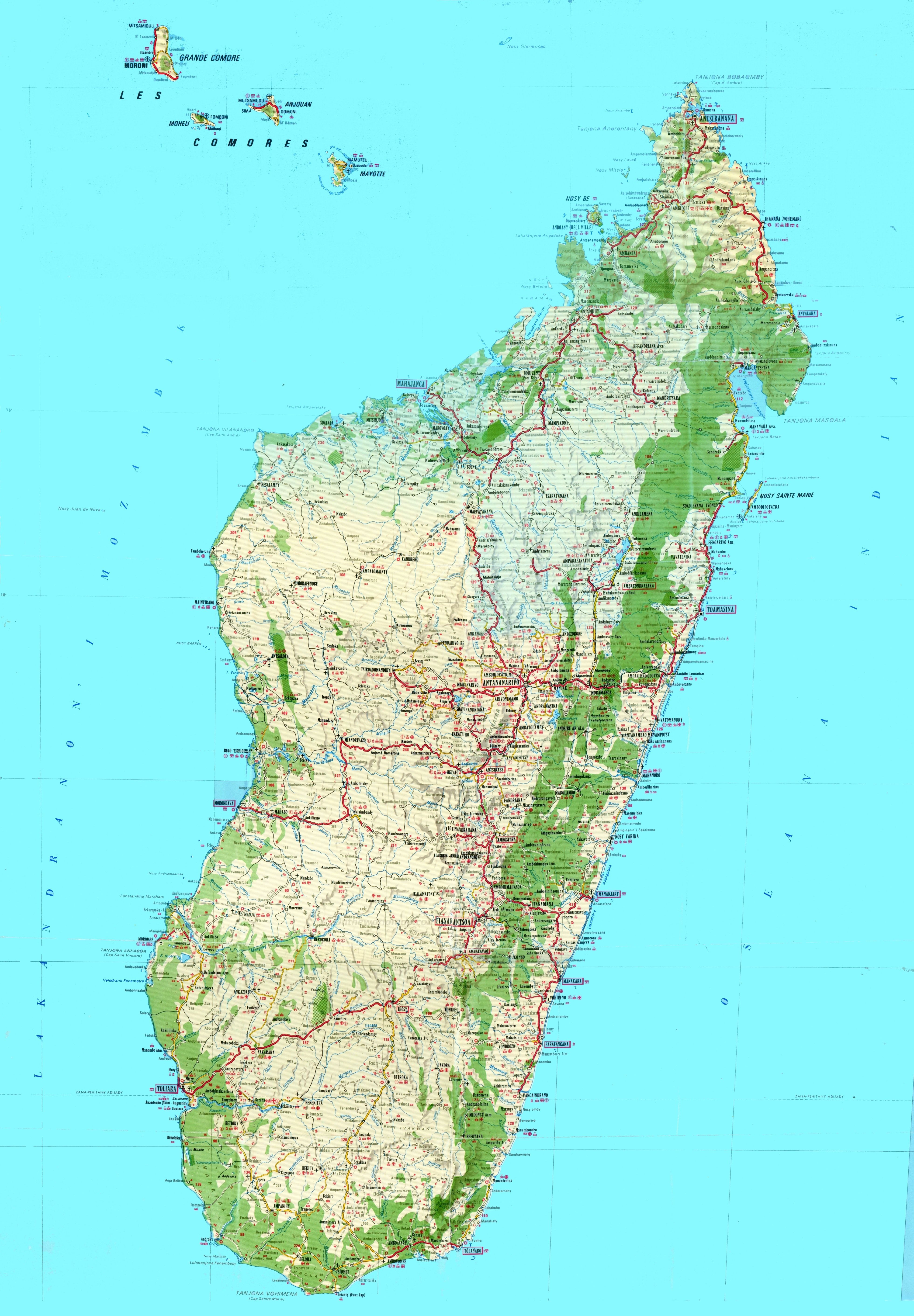 Topographic Map Of Madagascar - Topographic map of united kingdom