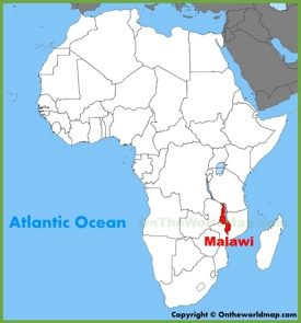 Malawi location on the Africa map