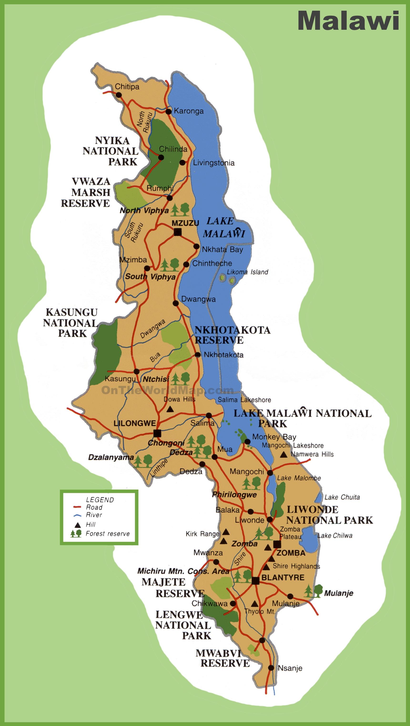 Malawi Maps Maps Of Malawi - Malawi map