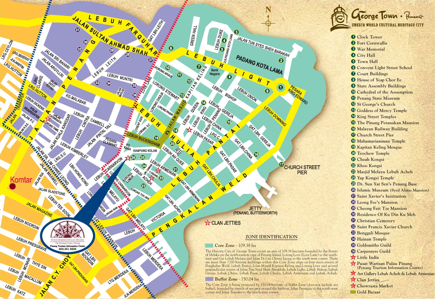 George Town City Center Map