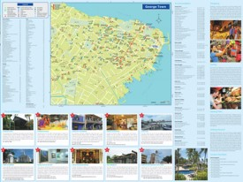 George Town hotels and sightseeings map
