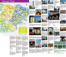 George Town sightseeing map