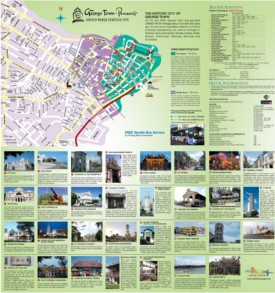 George Town tourist map