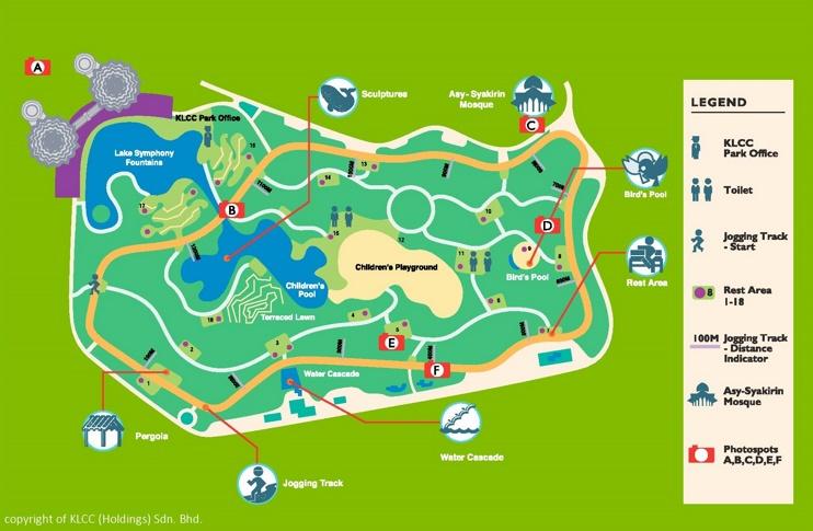 KLCC Park map