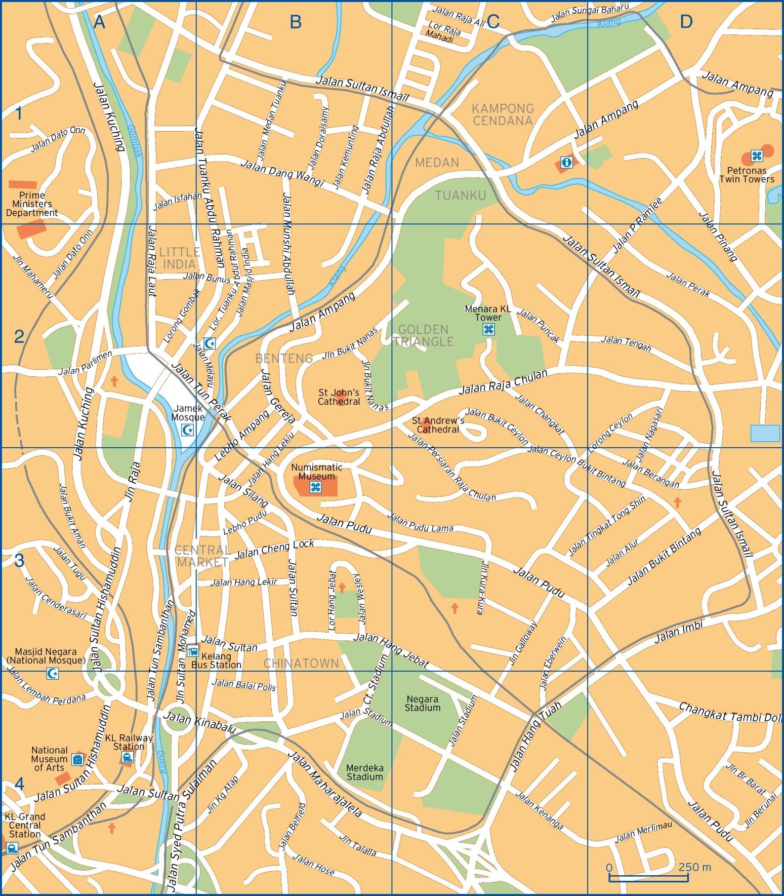 Kuala Lumpur Maps Malaysia Maps of Kuala Lumpur
