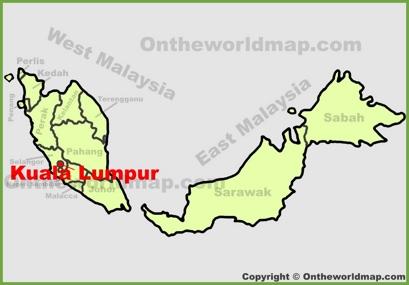 Kuala Lumpur Location Map