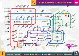 Kuala Lumpur Peta Laluan GO-KL City Bus map